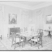 Paul Mellon, residence in Upperville, Virginia. Dining room IV