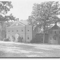 Paul Mellon, residence in Upperville, Virginia. Entrance facade