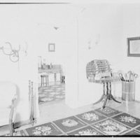 Paul Mellon, residence in Upperville, Virginia. Hall racks