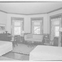 Paul Mellon, residence in Upperville, Virginia. Large guest room I