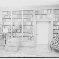 Paul Mellon, residence in Upperville, Virginia. Library III