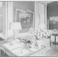 Paul Mellon, residence in Upperville, Virginia. Mr. Mellon's study, to desk