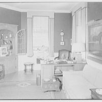 Paul Mellon, residence in Upperville, Virginia. Mr. Mellon's study, to window