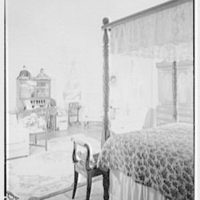 Paul Mellon, residence in Upperville, Virginia. Mrs. Mellon's bedroom, to desk
