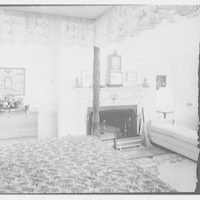 Paul Mellon, residence in Upperville, Virginia. Mrs. Mellon's bedroom, to fireplace