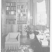 Paul Mellon, residence in Upperville, Virginia. Mrs. Mellon's office III
