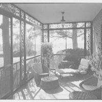 Paul Mellon, residence in Upperville, Virginia. Porch