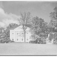 Paul Mellon, residence in Upperville, Virginia. Rear facade I