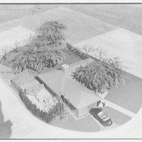 Raymond Barger Studio, Stamford, Connecticut. Model, bird's eye view