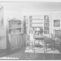 Richard Tyner, residence in Chatham, Massachusetts. Library, to ship model