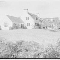 Robert Winslow, residence on Quanset Rd., East Orleans, Massachusetts. Entrance facade over bayberry