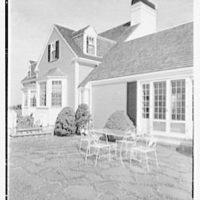 Robert Winslow, residence on Quanset Rd., East Orleans, Massachusetts. Terrace detail