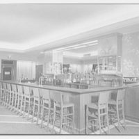 Schrafft's, 57th St. and 3rd Ave., New York City. View to soda fountain