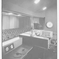 Station WNEW, 565 5th Ave., New York City. Control room of large studio