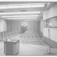 Station WNEW, 565 5th Ave., New York City. Large studio from stage