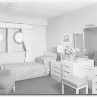 Steamship America, United States Line, 1 Broadway, New York City. Bedroom U70
