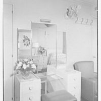 Steamship America, United States Line, 1 Broadway, New York City. Bedroom U72