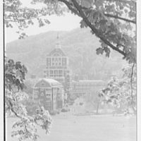 The Homestead, Hot Springs, Virginia. Tower and west facade, framed view