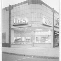 Wiss store, business at 554 Central Ave., East Orange, New Jersey. Exterior I