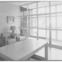 Abbott Laboratories, 1350 Cote de Liesse, Montreal, Canada. Entrance lobby, looking out