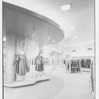 Bernard Shultz Department Store, business at Third and Main St., Evansville, Indiana. Fur department