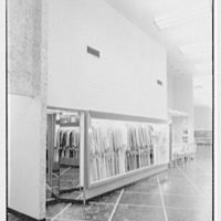 Bernard Shultz Department Store, business at Third and Main St., Evansville, Indiana. View to robes and corsets