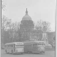 Capitol Transit Company. Street car and bus at Peace Monument in front of U.S. Capitol III