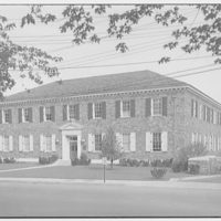 Chesapeake and Potomac Telephone Company. Front of C&P building in Falls Church, Va.