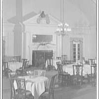 Chevy Chase Club. Dining room with fireplace at Chevy Chase Club I