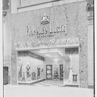 Florence Lustig, business at 54 E. 57th St., New York City. Exterior