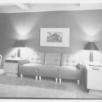 H. Kreiger, residence at 425 W. 205th St., New York, New York. View to living room sofa