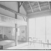 Harriet K. Morse, residence in Litchfield, Connecticut. Dining end and big window