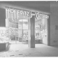 Hoffritz for Cutlery, business at 50 W. 34th St., New York City. Exterior, general