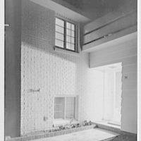 Joseph Prisant, residence in Great Neck, Long Island, New York. Entrance detail