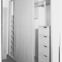 Marymount College, Gailhac Hall, Tarrytown, New York. Built-in closet