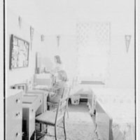Marymount College, Gailhac Hall, Tarrytown, New York. Double bedroom, A type