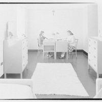 Marymount College, Gailhac Hall, Tarrytown, New York. Double bedroom, B type
