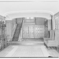 Mr. and Mrs. Andrew Johnston, residence at 16 Portland Pl., Saint Louis, Missouri. Hall and stairs