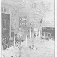 Mr. and Mrs. Edgar B. Stern, residence at 11 Garden Ln., New Orleans, Louisiana. Dining room table, set I