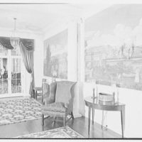 Mr. and Mrs. Edgar B. Stern, residence at 11 Garden Ln., New Orleans, Louisiana. Scenic wallpaper in upper hall