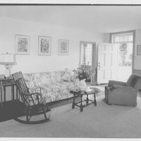 Mr. and Mrs. Eldredge Snyder, Carding Mill Farm, residence in Kellers Church, Pennsylvania. Living room sofa