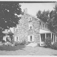 Mr. and Mrs. Eldredge Snyder, Carding Mill Farm, residence in Kellers Church, Pennsylvania. House, south facade