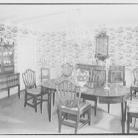 Mr. and Mrs. Jerome W. Blum, residence at 3 Willow Ln., Scarsdale, New York. Dining room