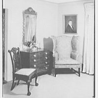 Mr. and Mrs. Jerome W. Blum, residence at 3 Willow Ln., Scarsdale, New York. Living room IV