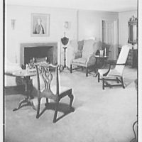 Mr. and Mrs. Jerome W. Blum, residence at 3 Willow Ln., Scarsdale, New York. Living room I