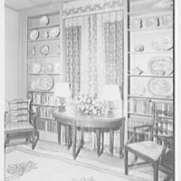 Mr. and Mrs. Joseph O. Lambert, Jr., residence at 3201 Turtle Creek Dr., Dallas, Texas. Library, to window