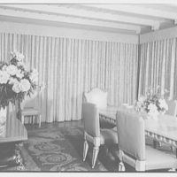 Mr. and Mrs. Theron Catlin, residence at 41 W. Brentmoor Park, Saint Louis, Missouri. Dining room, view to window