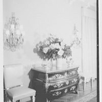 Mr. and Mrs. Theron Catlin, residence at 41 W. Brentmoor Park, Saint Louis, Missouri. Cabinet detail in dining room