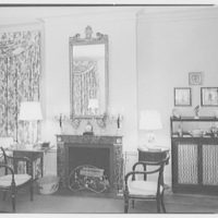 Mr. and Mrs. Theron Catlin, residence at 41 W. Brentmoor Park, Saint Louis, Missouri. Bedroom view, to fireplace