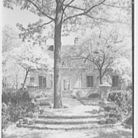 Mrs. Coster Morris, residence in Brookville, Long Island, New York. South facade, vertical